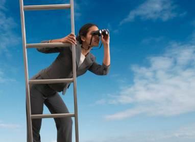 Woman-on-ladder