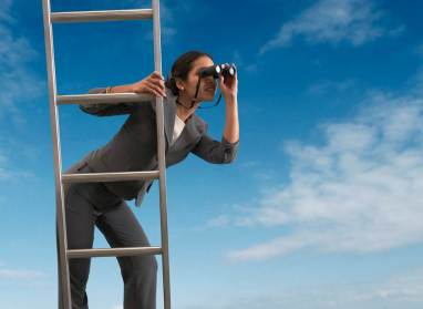 Woman-on-ladder